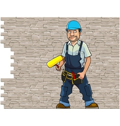 Cartoon man working in a helmet vector