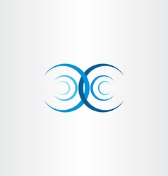 Water wave interference collision icon vector