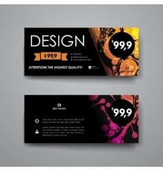 Set of modern design banner template in dna vector