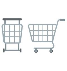 Empty shopping carts vector
