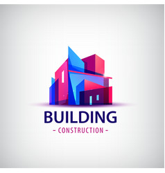 Abstract building colorful logo icon vector