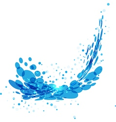 Water splash on white background vector