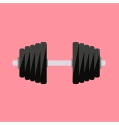 Sport icon sport dumbbell icon flat vector