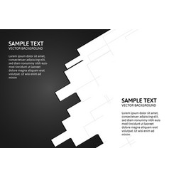 abstract of black and white background with copy vector image vector image