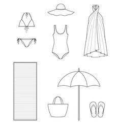 Beach clothes vector