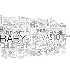 Better health and happiness for your baby text vector