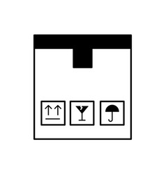 Box carton delivery icon vector
