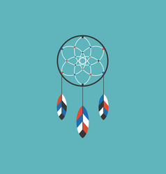 dream catcher of native american icon vector image vector image