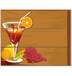 Drink board vector image