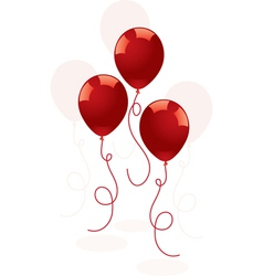 Festive red balloons vector