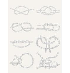 knots vector image vector image