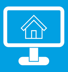 Layout of house icon white vector