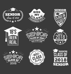 logo badges and cute funny labels for graduating vector image