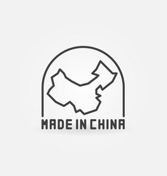 made in china with map icon vector image vector image