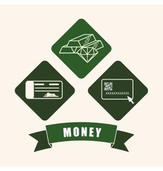 Money icons design vector