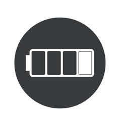 Monochrome round low battery icon vector