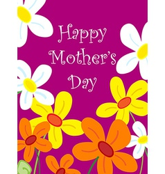 Mothers day flower card vector