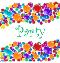 Party balloons with confetti vector image