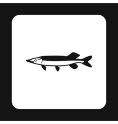 Pike icon simple style vector