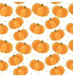 Pumpkin seamless pattern Gourd endless vector image