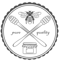 quality honey vector image vector image