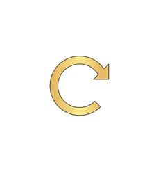 Rotation Arrow computer symbol vector image vector image
