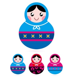 Russian doll collection vector