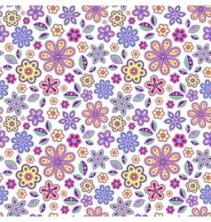 Seamless pattern with pastel flowers vector
