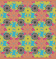 Seamless watercolor floral pattern with flower vector