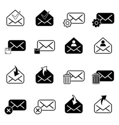 set with post icons vector image vector image
