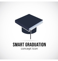Smart Graduation Concept Icon Symbol or Logo vector image vector image