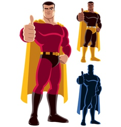 Superhero Approving vector image vector image