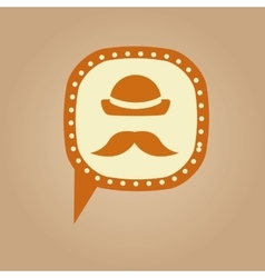 symbol hipster hat and retro mustache icon vector image