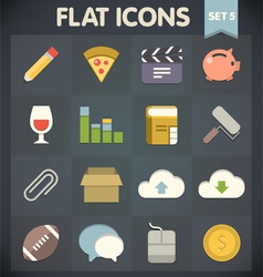 Universal flat icons for applications set vector