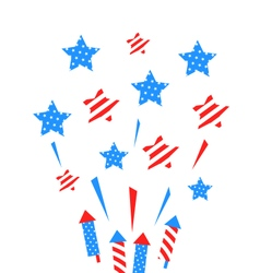 Usa Background with Rockets and Stars vector image