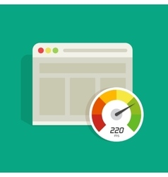 Website speed loading time icon web vector image vector image
