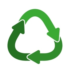 Green united recycling symbol shape with arrows vector