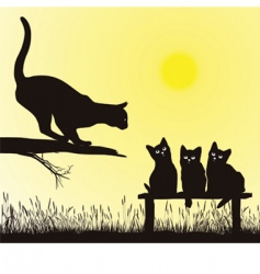 cat school vector image