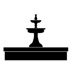 Fountain the black color icon vector