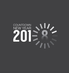 2018 countdown loading vector image vector image