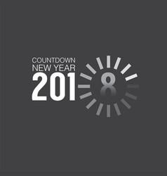 2018 countdown loading vector image