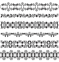 Ottoman motifs black design series of fifty seven vector