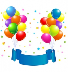 Birthday balloons design vector