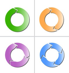 4 color arrow refresh reload rotation loop icon vector image vector image
