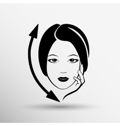 Woman face fashion girl beauty vector