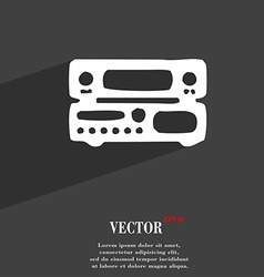 Radio receiver amplifier icon symbol flat modern vector