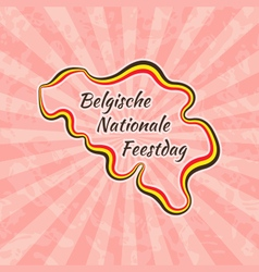 Happy belgian national day vector