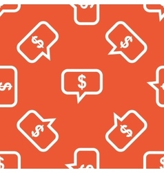 Orange dollar message pattern vector