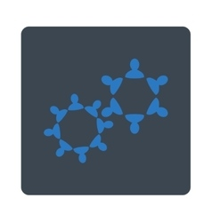 Collaboration icon from commerce buttons overcolor vector