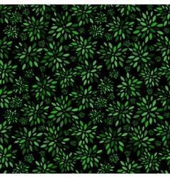 Flower leaves pattern background vector